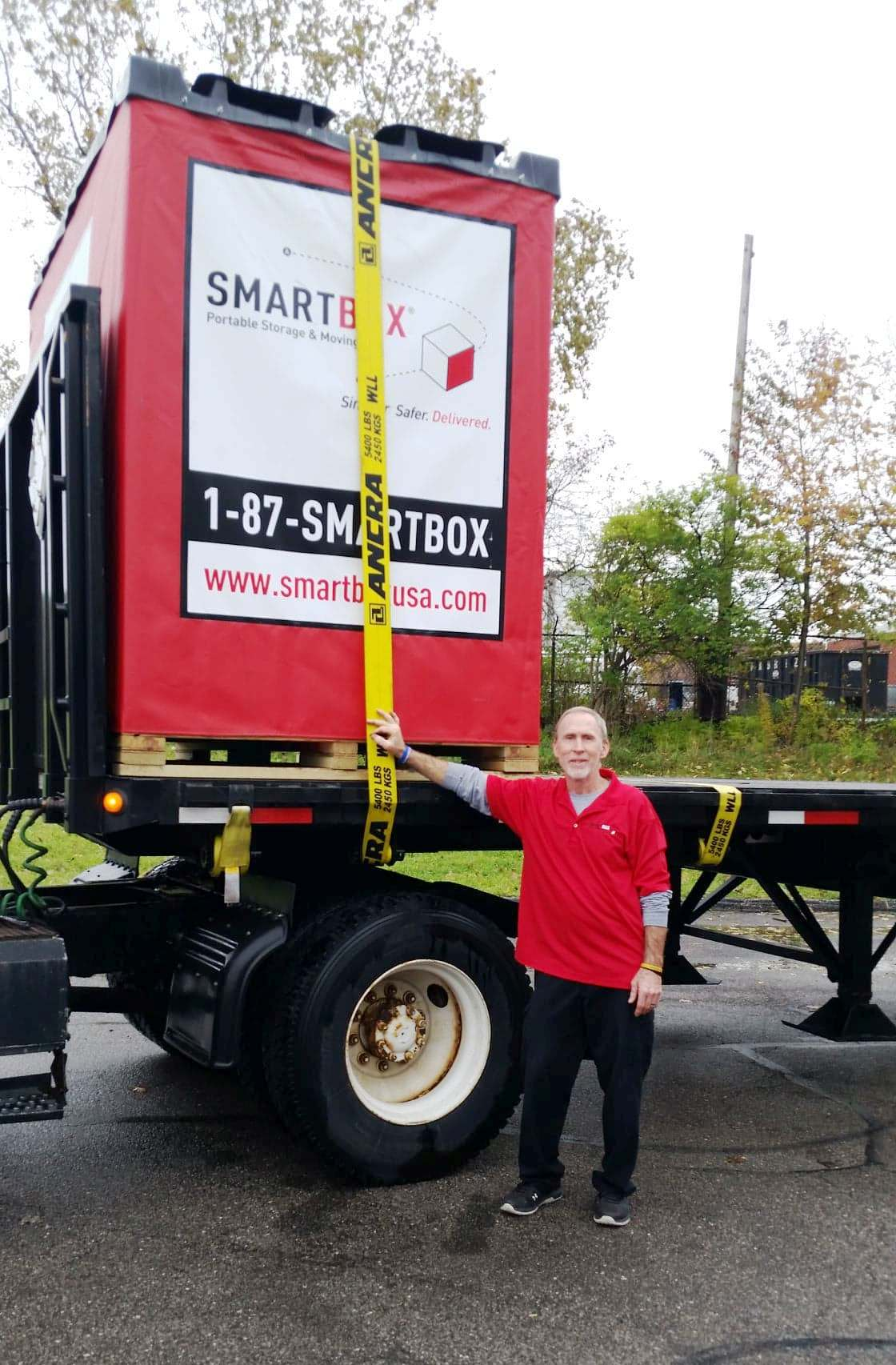 driver hylton and smartbox on trailer